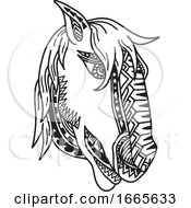 Horse Head Tribal Tattoo
