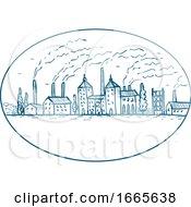 Poster, Art Print Of Industrial Revolution Landscape Drawing