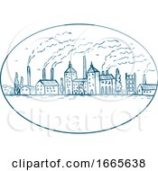 Industrial Revolution Landscape Drawing