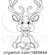 Christmas Reindeer Cartoon Character