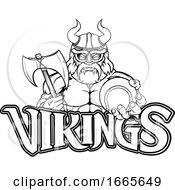 08/30/2019 - Viking Tennis Sports Mascot