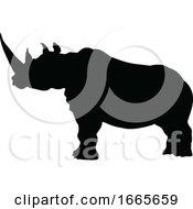 08/30/2019 - Rhino Animal Silhouette
