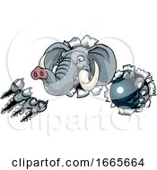 Elephant Bowling Ball Sports Animal Mascot