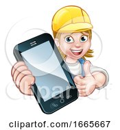 Poster, Art Print Of Handyman Or Mechanic Phone Concept