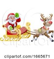 08/30/2019 - Santa Claus Reindeer Sleigh Christmas Pixel Art