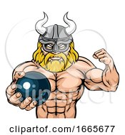 Viking Bowling Sports Mascot