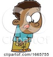 Poster, Art Print Of Cartoon Digging Deep Into His Pocket