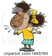 Cartoon Girl Coughing