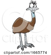 Cartoon Emu Bird by toonaday