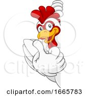 Poster, Art Print Of Chicken Rooster Cockerel Bird Cartoon Character