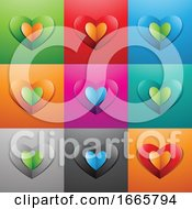 Poster, Art Print Of Paper Heart Icons