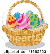 Poster, Art Print Of Basket Of Easter Eggs