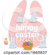 Poster, Art Print Of Happy Easter Greeting