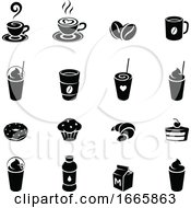 Black And White Coffee Icons