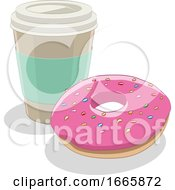 Donut And Coffee by cidepix