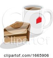 Coffee Mug And Cake by cidepix