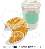 Croissant And Coffee by cidepix