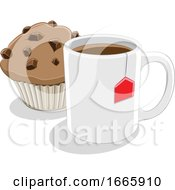 Coffee Mug And Muffin