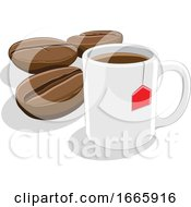 Coffee Mug With Beans by cidepix