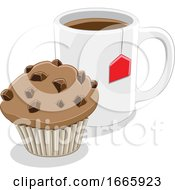 Poster, Art Print Of Coffee Mug And Muffin
