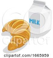 Croissant And Milk