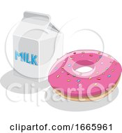 Donut And Milk by cidepix