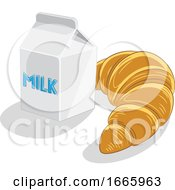 Croissant And Milk by cidepix