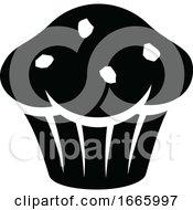 Black And White Chocolate Muffin