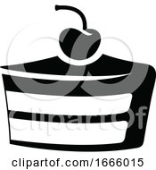 Black And White Slice Of Cake by cidepix