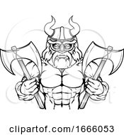 09/03/2019 - Viking Cartoon Sports Mascot
