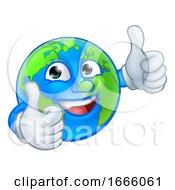 09/03/2019 - Earth Globe World Mascot Cartoon Character