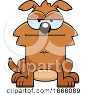 Cartoon Bored Brown Dog