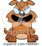 Cartoon Evil Brown Dog