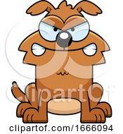 Cartoon Mad Brown Dog