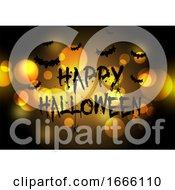 Halloween Background With Bokeh Lights Design