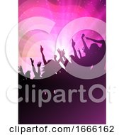 Abstract Background With Party Crowd