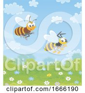 Racing Bee And Wasp