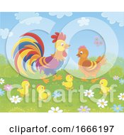Poster, Art Print Of Chicken Family