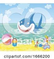 Shark At A Beach