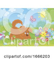 Poster, Art Print Of Playful Puppy Dog