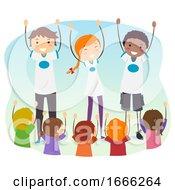 Poster, Art Print Of Stickman Teens Outreach Program Kids Illustration