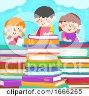 Kids Write Pile Book Illustration