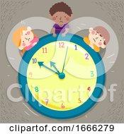 Kids Time Waiting Illustration