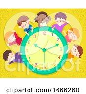 Kids Happy Clock Illustration