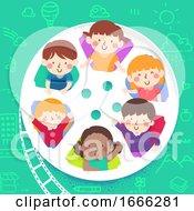 Kids Film Reel Peek Illustration