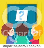 Kids Door Question Mark Illustration