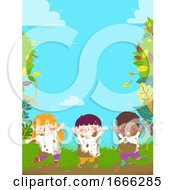 Kids Dirt Mud Nature Background Illustration