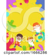 Kids Color Splats Background Illustration