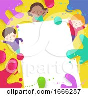 Kids Color Splats Paper Background Illustration