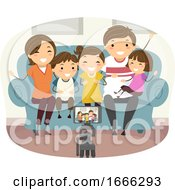 Stickman Family Record Video Mobile Illustration